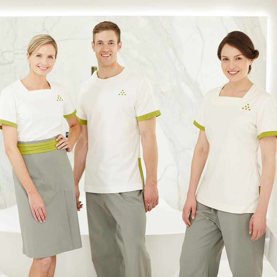 luxury uniforms for Six Senses resort
