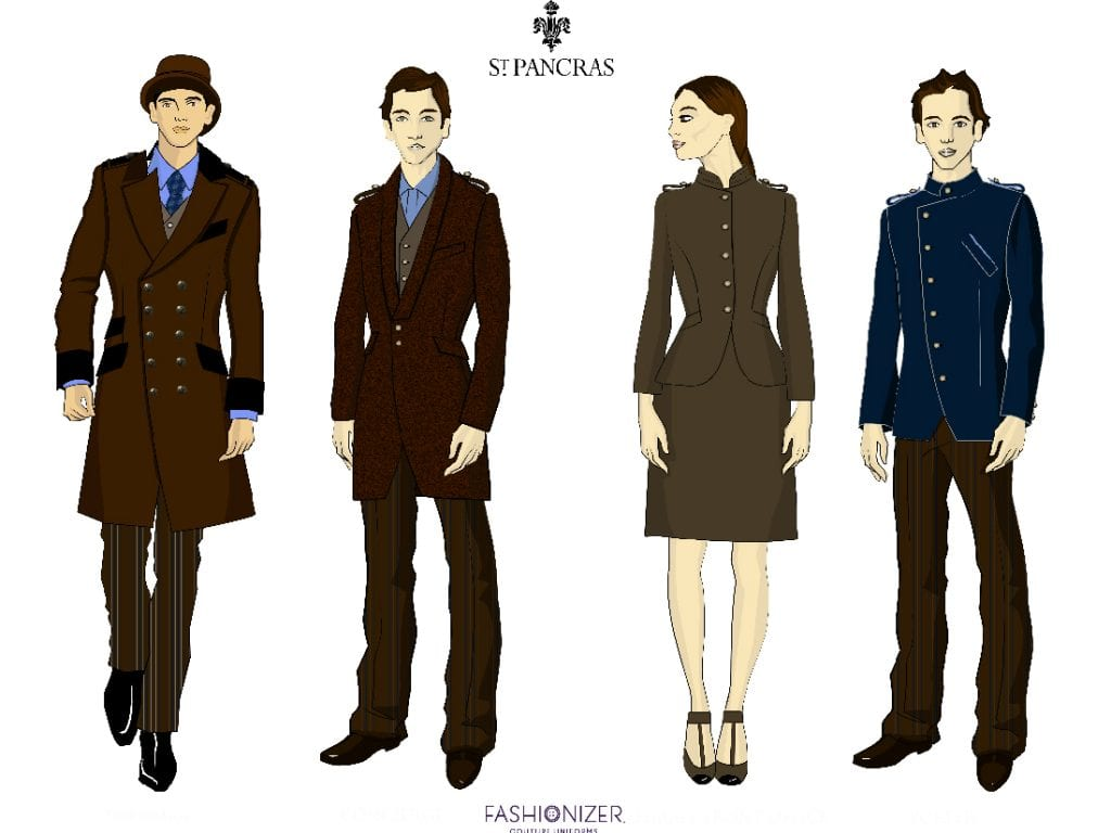 Bespoke uniforms for the St Pancras by Fashionizer Couture Uniforms