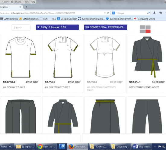 exclusively designed uniforms
