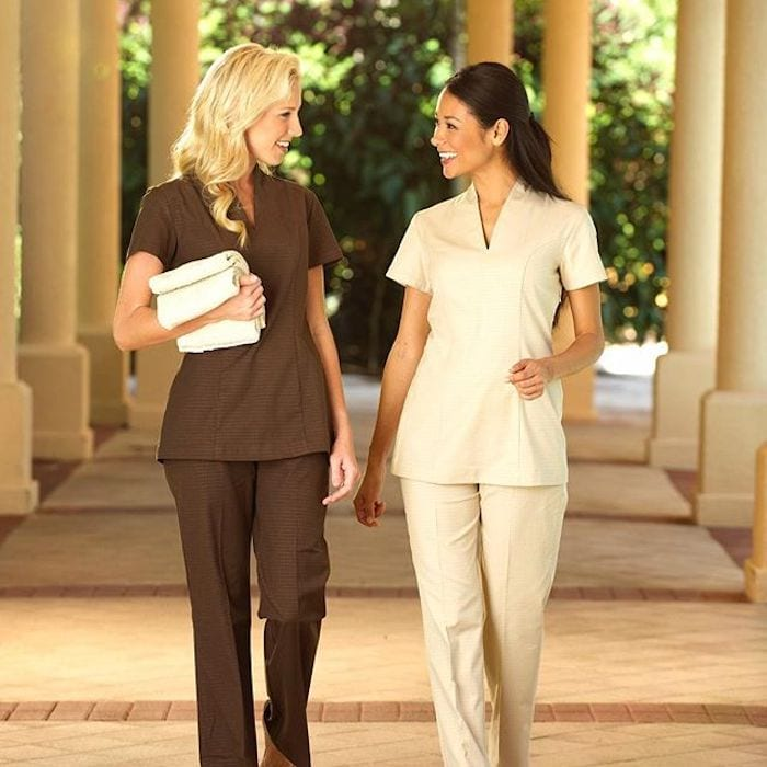 Sustainable spa uniforms